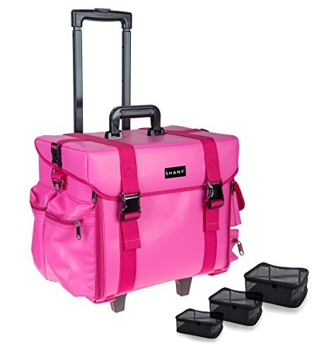 Mesh-trolley (SHANY Makeup Artist Soft Rolling Trolley Cosmetic Case with Free Set of Mesh Bags - Sweetheart by SHANY Cosmetics)