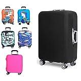 Kofferschutzhülle Elastische Kofferhülle Reisekoffer Hülle Koffer Schutzhülle Abdeckung Luggage Cover mit Reißverschluss (Schwarz, XL)
