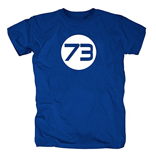TSP Sheldons Best Number 73 T-Shirt Herren XXL Königsblau