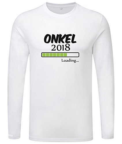 Onkel loading 2018 - Herren Langarmshirt Weiß