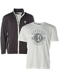 Gey Connection Herren Set Strickjacke + T-Shirt