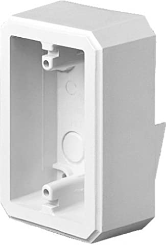 Arlington Industries FS8171 Weatherproof Flanged Outlet Switch Box for Dutch Lap Siding, White, by Arlington Industries