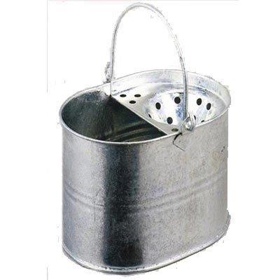 Highlands Cubo de fregona metálico galvanizado para limpieza de suelos en cocina, baño, hogar.