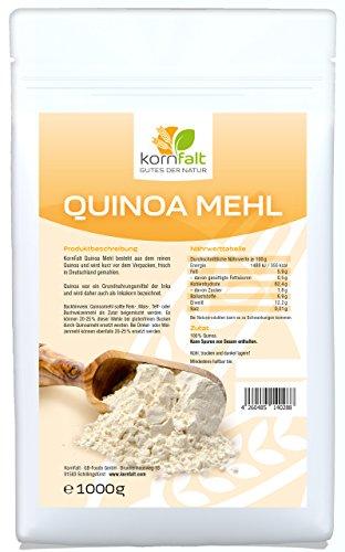KORNFALT Quinoa Mehl weiß - Premium - in Deutschland gemahlen und geprüft (1 x 1 kg)