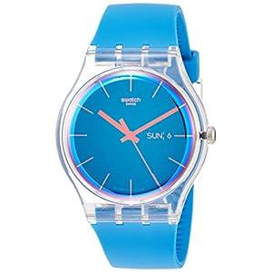 Swatch Reloj Analógico para Hombre de Cuarzo con Correa en Silicona SUOK711
