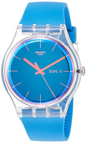 Swatch Herren Analog Quarz Uhr mit Silikon Armband SUOK711 - Von Swatch Uhren