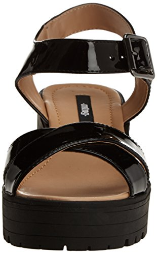 MTNG Collection (MTNGC) Blocksandals, plateforme femme Noir