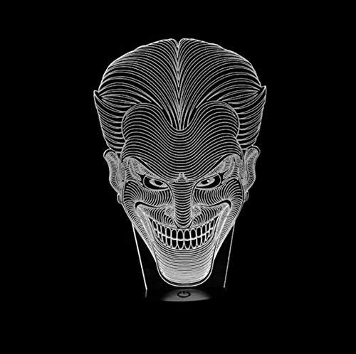 Licht Der Nacht 3D Halloween Kinder Geschenk Jack Lächeln Gesicht 3D Lampe Film Charakter Lachen Joker Schreibtischlampe Mit 7 Farben Nachtlicht Halloween Licht