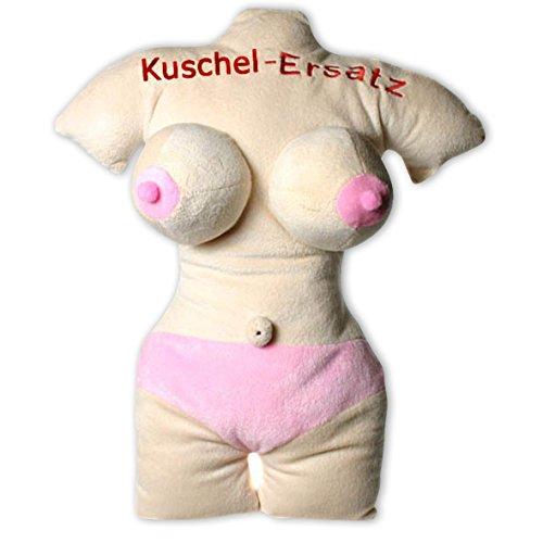 Close Up Sexy Frau Kuschel-Ersatz Kissen/Plüschkissen hautfarben, Bestickt ca. 45cm hoch (Sexy Bettwäsche)