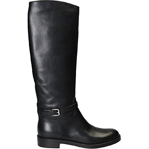 Bottes de cheval Gianvito Rossi en veritable cuir noir - Code modèle: G80946.20CUO.VIPNERO Noir