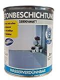 Wilckens Betonbeschichtung für innen und außen wasserverdünnbar seidenmatt farbton wählbar 750 ml, Farbe (RAL):RAL 7032 Kieselgrau, Glanzgrad:seidenmatt