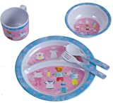 Bieco 04-001151 Melamin Geschirr Kinder Ess-Set Teddy
