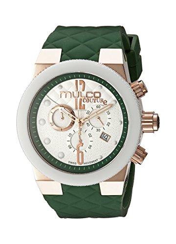 MULCO Women's MW5-2552-483 Couture Analog Display Swiss Quartz Green Watch