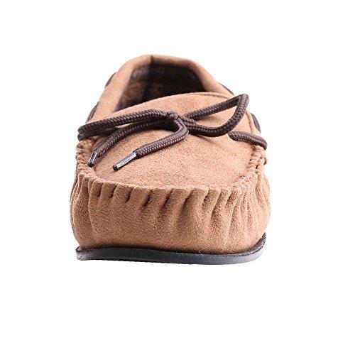 Mocassins en daim Hommes Suédine Cuir Bateau Chaussures de Conduite plates Chaussures WILLIAM&KATE Marrone