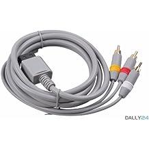 AV Kabel 3 Chinch Scart Kabel für Nintendo Wii Vergoldete Kontakte - booEy