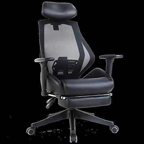Jiamuxiangsi- sedia girevole per computer sedia ergonomico con sgabello sedia per ufficio sporgente sedia per pausa pranzo reclinabile sedia per esportanza sedia tipo s supporto tridimensionale rete p