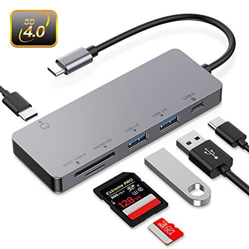 Hotott Hub USB c Lector Tarjetas Memoria UHS-II, SD