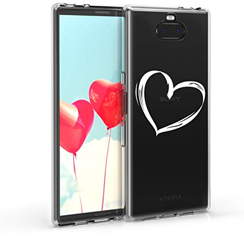 kwmobile Sony Xperia 10 Plus Hülle - Handyhülle für Sony Xperia 10 Plus - Handy Case in Weiß Transparent