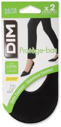 Dim Protège Bas Coton, Calcetines para mujer, Negro, 38 (Taille fabricant : 35/38) Dim