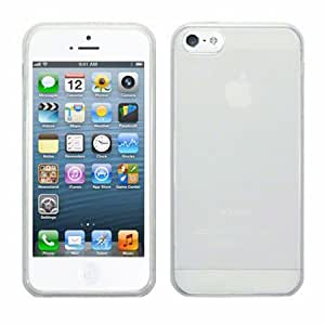 Perfect Fit TPU Gel Silicone Bumper Case Cover For iPhone 5 & 5S - Clear White