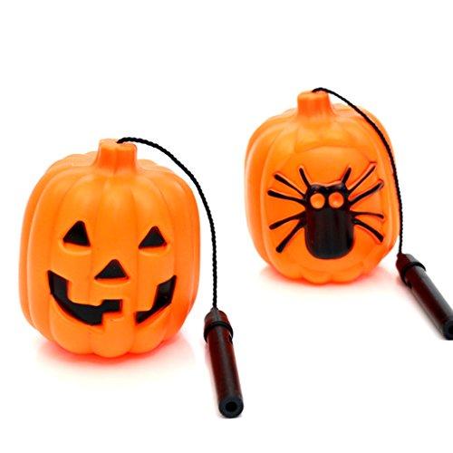ve Kürbis Windlicht Dekorationen Aufhängen Ornaments für Halloween Party Dekorationen 5 Orange ()