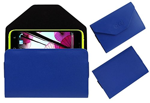 Acm Premium Pouch Case For Panasonic P11 Flip Flap Cover Holder Blue  available at amazon for Rs.179