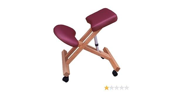 Sedia ergonomica g ciliegia sgabello con ruote per casa o
