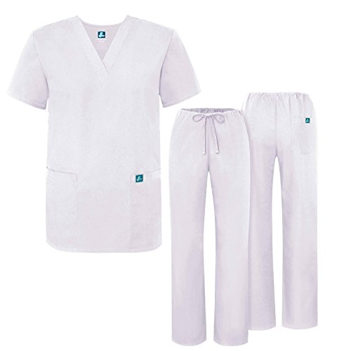 ADAR UNIFORMS Unisex Scrub Set – Medical Uniform with Top and Pants