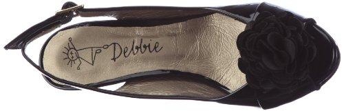 Debbie 9309 Damen Sandalen/Fashion-Sandalen Schwarz (Black)