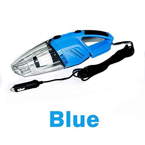 PANQQ Aspiradora de Mano Sin Cable Aspirador de coche 12V 120W 5M Portátil Mojado y seco de doble uso con luz LED Negro Naranja Azul @ Azul
