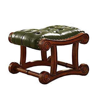 European Small Sofa Bench,Living Room Side Stool American Shoe Bench 59 * 40 * 41cm (Color : GREEN)