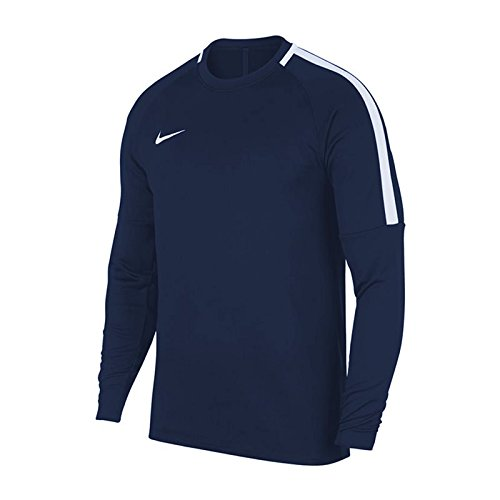 Nike Academy Crew Sweat-Shirt de Football Homme, Obsidian/Blanc, FR : S (Taille Fabricant : S)