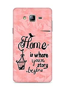 AMEZ home is where your story begins Back Cover For Samsung Galaxy ON5