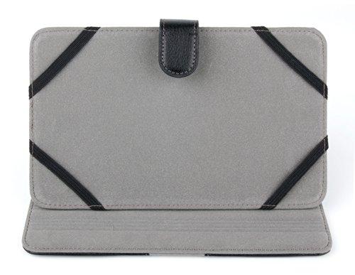 DURAGADGET Hülle mit Stand und elastischen Bändern, kompatibel mit ELYRICON EBX-710.TFT E-Book-Readern (Adobe-leder)