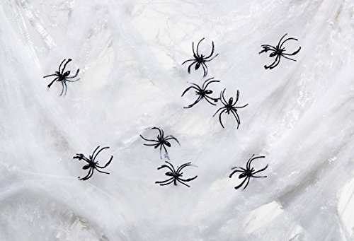 Halloween Riesen Spinnen (Foxxeo 36015 | Riesen Spinnennetz Halloween Deko Horror)
