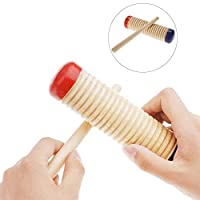 Whiie891203 Educational DIY Toys,Wooden Guiro Shaker Stick Kids Children Percussion Musical Instrument Rhythm Early Learning Toy for Kids and Adults, Birthday & Christmas Gift Choice