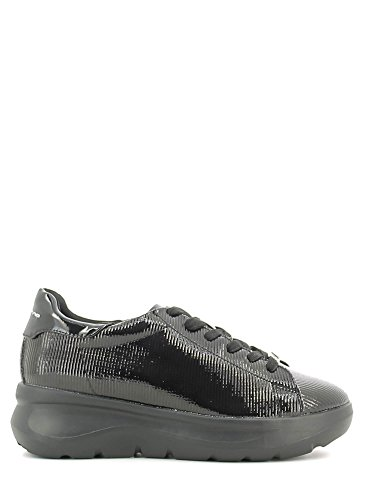 Fornarina PIFVH9545WIA9000 Sneakers Femme Cuir Synthetique Gris Noir