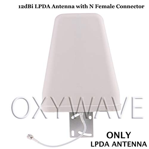 Buy OXYWAVE 698-2700 MHz 12dBi 2G 3G 4G 5G Wide Band Directional Cellular Log Periodic Antenna (LPDA) Outdoor with N Female Connector online in India at discounted price