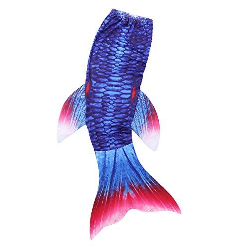 jungfrau Schwanz-Flossen Prinzessin Meerjungfrau Kostüm Bade Set für Fotoshooting Gr. 98-140 Dunkel Blau & Rot 122-128(Nr.130) (Dunkle Meerjungfrau Kostüme)