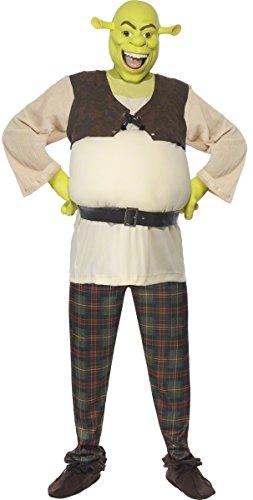 ziell DreamWorks Deluxe Shrek Ungeheuer büchertag Halloween Kostüm Kleid Outfit - Grün, Large (42-44
