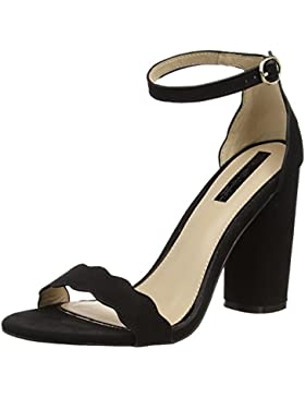 Miss Selfridge Damen Scallop Block Sandalen mit Absatz