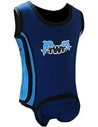 TWF bebé traje de Wrap–4emocionantes diseños 0–6/6–12/12–18meses, Bebé - niña, Blue Dolphin, 6-12 meses
