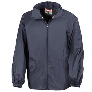 Result Mens Lightweight Windcheater in a Bag Showerproof Windproof Jacket (Concealed Hood) (XL) (Navy Blue)