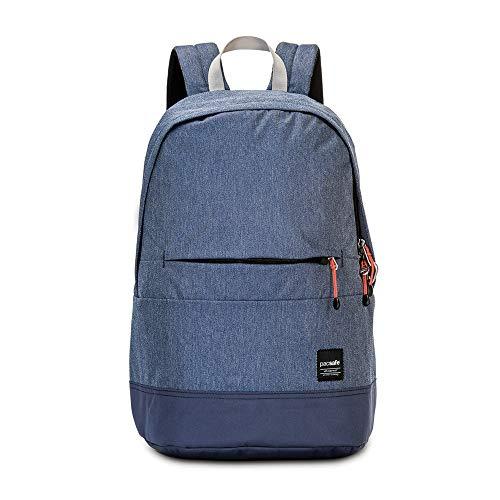 Pacsafe Slingsafe LX300, Anti-Diebstahl Rucksack, Daypack mit Sicherheitstechnologie, 20 Liter, Denim Blau