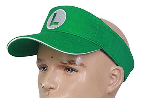 DealTrade Halloween Hut Grün Tennis Kappe Cosplay Kostüm Spiel Erwachsene & Jugendliche Einstellbare Sunproof Kappe Fancy Dress Zubehör