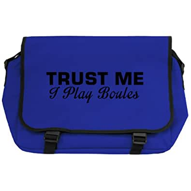 Trust Me I Play Boules Messenger Bag - Royal Blue