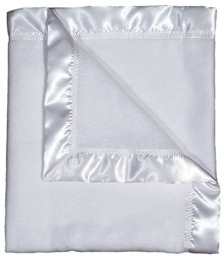 Dee Givens & Co-Raindrops 1801 Neutre Blanc Polaire Receiving Blanket - Blanc - 28 po x 36 po