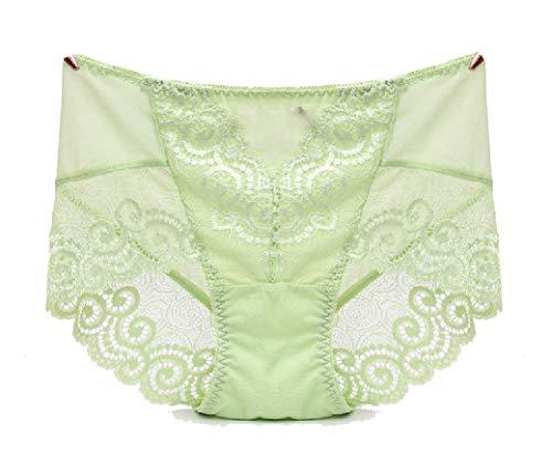 Boy Cut Lace Panty (CuteRose Women Seamless Cozy Lace Stiching Oversized Everyday Underwear AS4 One Size)