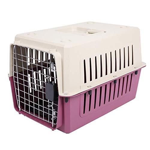 RNFJKH Pet Air Box Super robuste Katze & Hund Träger Pet Flight Case Air Box tragbare Reise Kunststoff Pet Carrier Reise Heimtierbedarf (Kunststoff-pet-träger)