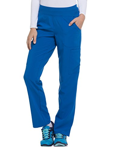 Dickies EDS Essentials by Women's Knit Waistband Scrub Pant XXX-Large Petite Royal